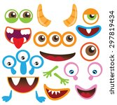 monster parts vector... | Shutterstock .eps vector #297819434