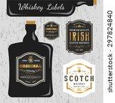 whiskey brands label design... | Shutterstock .eps vector #297824840