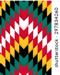 american indian aztec colorful... | Shutterstock .eps vector #297834260