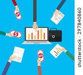 business finance investment... | Shutterstock .eps vector #297840860
