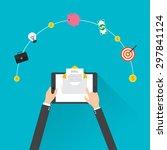 flat design  e mail marketing... | Shutterstock .eps vector #297841124