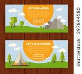 advertisement set of concept... | Shutterstock .eps vector #297844580