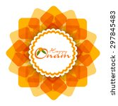 beautiful onam festival floral... | Shutterstock .eps vector #297845483