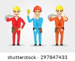 set of technical  electrician... | Shutterstock .eps vector #297847433