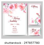 wedding invitation cards  with... | Shutterstock .eps vector #297857780