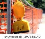 road yard with yellow signal... | Shutterstock . vector #297858140
