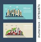 flyer template town for... | Shutterstock .eps vector #297863876