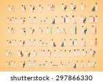 medical staff and patients... | Shutterstock .eps vector #297866330