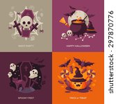 set of halloween concepts.... | Shutterstock .eps vector #297870776