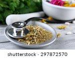 alternative medicine herbs ... | Shutterstock . vector #297872570