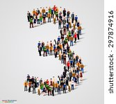 large group of people in number ... | Shutterstock .eps vector #297874916