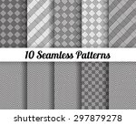 set of 10 abstract patterns.... | Shutterstock .eps vector #297879278