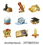 astrology  set of vector icons | Shutterstock .eps vector #297885524