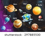 solar system of planets  vector ... | Shutterstock .eps vector #297885530