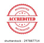 accredited grunge rubber stamp... | Shutterstock .eps vector #297887714