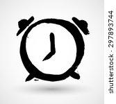 alarm clock grunge icon | Shutterstock .eps vector #297893744