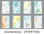 set of 8 creative universal... | Shutterstock .eps vector #297897506