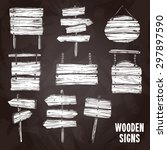 Wooden Sign Posts And Boards O...