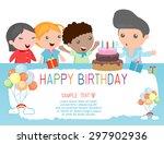 happy birthday  for kids.  | Shutterstock .eps vector #297902936