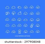 cloud servers and wireless... | Shutterstock .eps vector #297908048