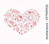 love symbols. valentine's day... | Shutterstock .eps vector #297909920