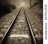 Railway Tracks Vanishing Into...