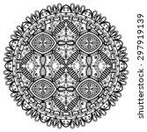 black and white mandala ... | Shutterstock .eps vector #297919139