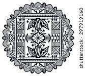 black and white mandala ... | Shutterstock .eps vector #297919160