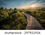 path into the sun... | Shutterstock . vector #297921926