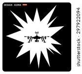 quadrocopter. icon. vector... | Shutterstock .eps vector #297922094