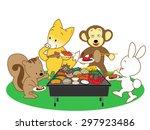 barbecue | Shutterstock .eps vector #297923486