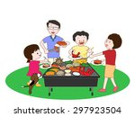 barbecue | Shutterstock .eps vector #297923504