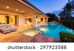 beautiful luxury home with... | Shutterstock . vector #297923588