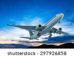 Commercial Airplane Flying At...