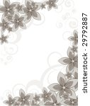 floral abstract illustration... | Shutterstock .eps vector #29792887