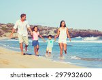 young happy family having fun... | Shutterstock . vector #297932600