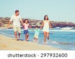 young happy family having fun... | Shutterstock . vector #297932600