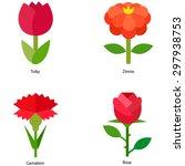 flower vector icons | Shutterstock .eps vector #297938753