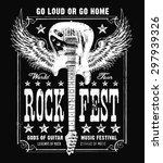 vintage grunge guitar music... | Shutterstock .eps vector #297939326
