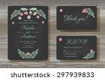 unique vector wedding cards... | Shutterstock .eps vector #297939833