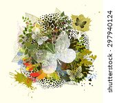 Abstraction With Flowers And...