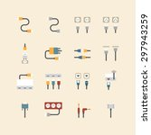 vector linear web icons set  ... | Shutterstock .eps vector #297943259