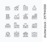 vector linear web icons set  ... | Shutterstock .eps vector #297944300