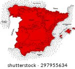 Постер, плакат: Map of Spain Vector