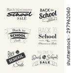 back to school sale label...   Shutterstock .eps vector #297962060
