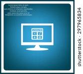 icon calculator. icon. vector... | Shutterstock .eps vector #297965834