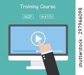video tutorials | Shutterstock .eps vector #297966098