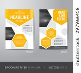 corporate hexagonal brochure... | Shutterstock .eps vector #297966458