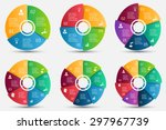 vector circle element with... | Shutterstock .eps vector #297967739