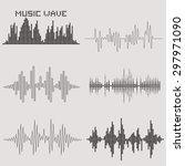 sound waves vector set. music... | Shutterstock .eps vector #297971090